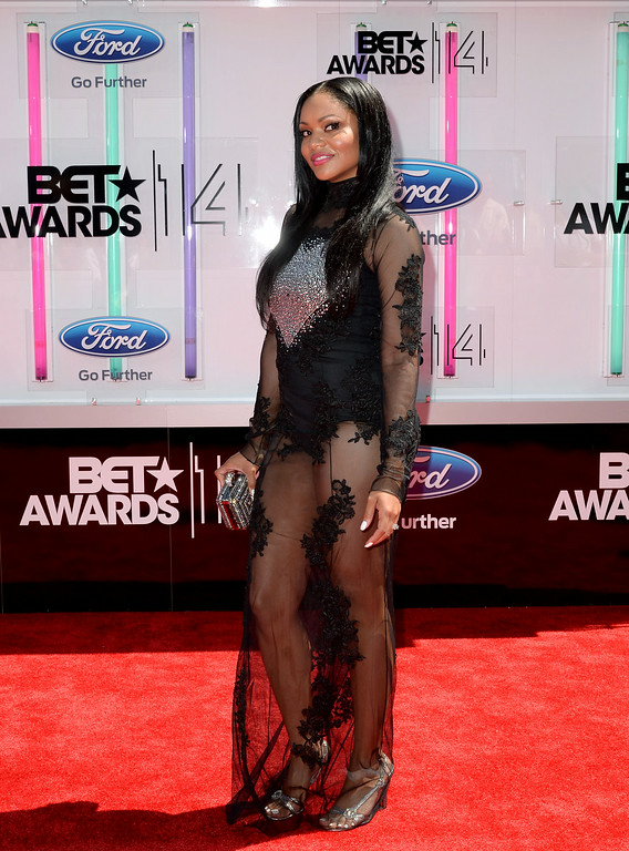 Description of . Actress Erica Hubbard attends the BET AWARDS '14 at Nokia Theatre L.A. LIVE on June 29, 2014 in Los Angeles, California.  (Photo by Earl Gibson III/Getty Images for BET)