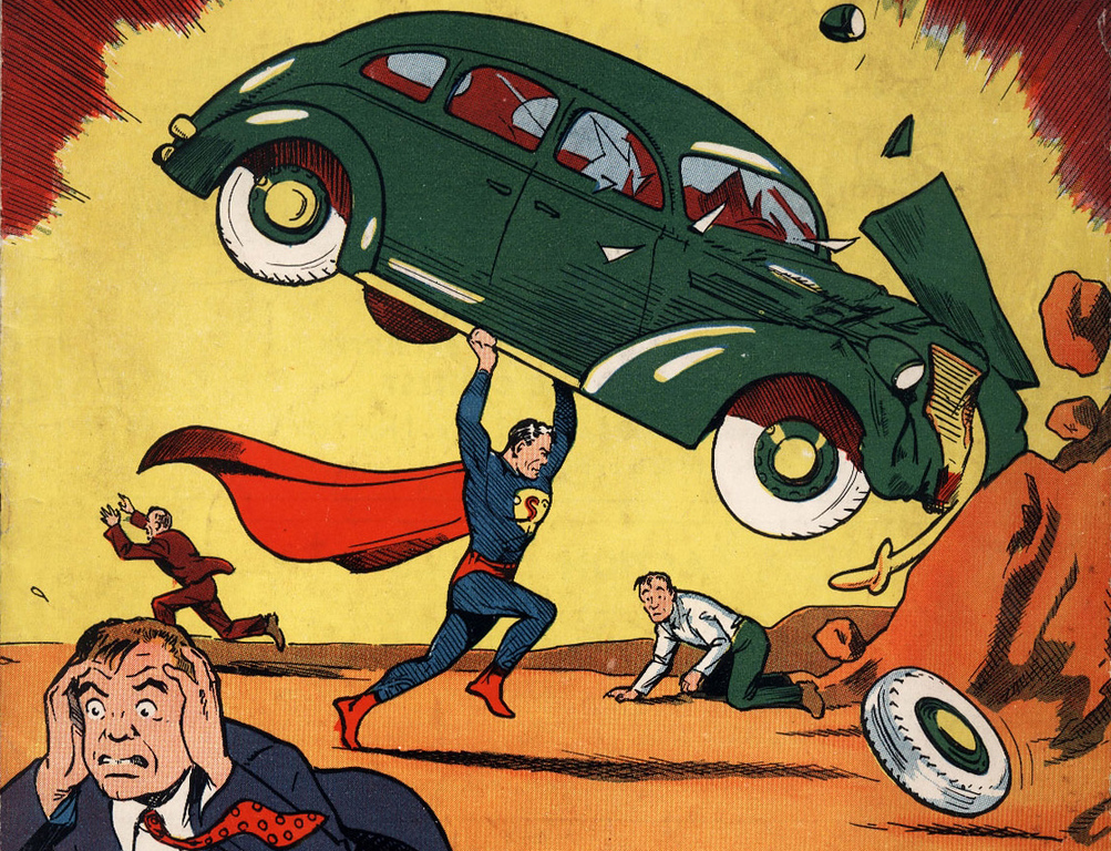 Description of . In this file photo released by Metropolis Collectibles, Friday, Feb. 27,2009 in New York, the June, 1938 cover of Action Comics is shown.  (AP Photo/Metropolis Collectibles, Fil