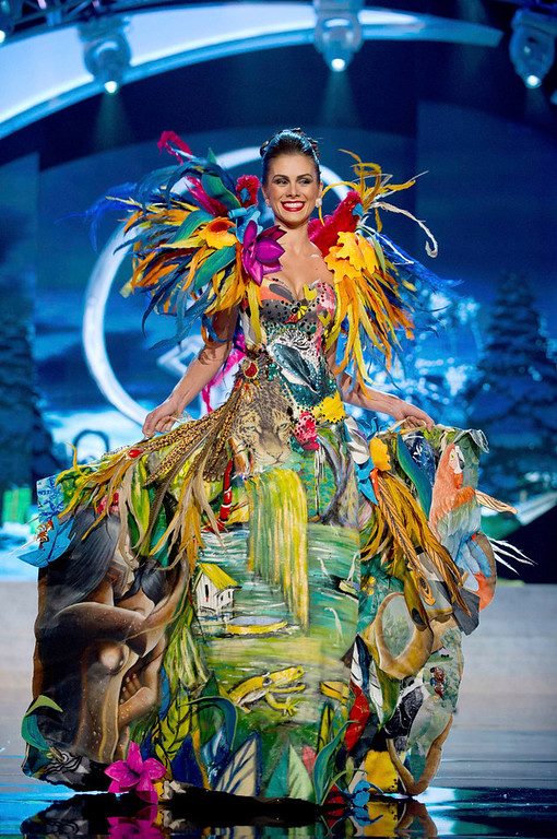 Description of . Miss Brazil Gabriela Markus performs onstage at the 2012 Miss Universe National Costume Show at PH Live in Las Vegas, Nevada December 14, 2012. The 89 Miss Universe Contestants will compete for the Diamond Nexus Crown on December 19, 2012. REUTERS/Darren Decker/Miss Universe Organization/Handout