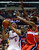 Caron Butler of the Los Angeles Clippers (#5) looks to shoot under pressure from Emeka Okafor (R) and Martell Webster (C) of the Washington Wizards during their NBA game in Los Angeles on January 19, 2013.  FREDERIC J. BROWN/AFP/Getty Images