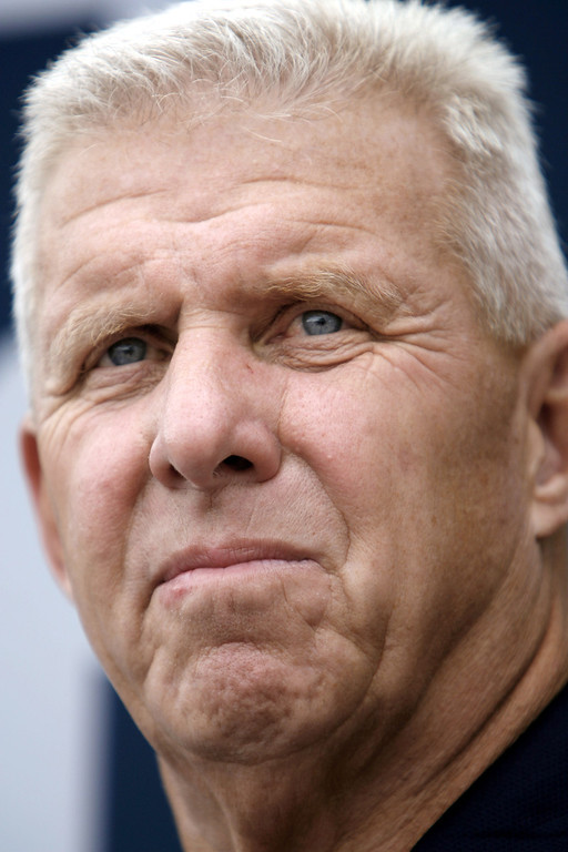 Description of . Dallas Cowboys head coach Bill Parcells listens to a questions during the teams opening news conference before training camp in this July 28, 2006 file photo, in Oxnard, Calif.  Parcells retired from coaching Monday, Jan. 22, 2007, leaving the Dallas Cowboys after four seasons and ending a stellar career that featured three Super Bowl appearances and two championships (AP Photo/Matt Slocum)