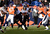 Baltimore Ravens running back Ray Rice (27) makes a run up the middle in the first quarter. The Denver Broncos vs Baltimore Ravens AFC Divisional playoff game at Sports Authority Field Saturday January 12, 2013. (Photo by Joe Amon,/The Denver Post)