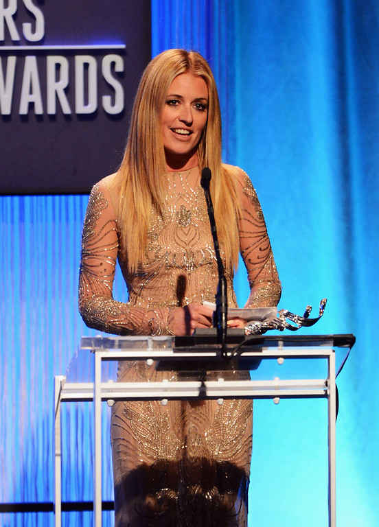 Description of . Presenter Cat Deeley onstage during the 15th Annual Costume Designers Guild Awards with presenting sponsor Lacoste at The Beverly Hilton Hotel on February 19, 2013 in Beverly Hills, California.  (Photo by Jason Merritt/Getty Images for CDG)