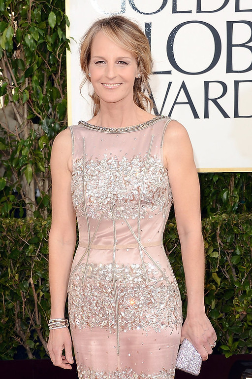 Description of . Actress Helen Hunt arrives at the 70th Annual Golden Globe Awards held at The Beverly Hilton Hotel on January 13, 2013 in Beverly Hills, California.  (Photo by Jason Merritt/Getty Images)