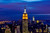 The Midtown skyline remains lit as Lower Manhattan remains mostly without power on November 1, 2012 in New York City. Millions of customers in New Jersey and New York remain without power following Superstorm Sandy as colder weather approaches. The storm has claimed at least 90 lives in the United States, and has caused massive flooding across much of the Atlantic seaboard. U.S. President Barack Obama has declared the situation a 