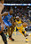 DENVER, CO. - JANUARY 20: Denver Nuggets point guard Ty Lawson (3) drives on Oklahoma City Thunder power forward Serge Ibaka (9) during the first quarter January 20,  2013 at Pepsi Center. (Photo By John Leyba / The Denver Post)