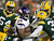 Running back Adrian Peterson #28 of the Minnesota Vikings runs the ball as he is tackled by strong safety Charles Woodson #21 and cornerback Sam Shields #37 of the Green Bay Packers in the first quarter during the NFC Wild Card Playoff game at Lambeau Field on January 5, 2013 in Green Bay, Wisconsin.  (Photo by Andy Lyons/Getty Images)