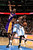 Kenneth Faried #35 of the Denver Nuggets is fouled by Dwight Howard #12 of the Los Angeles Lakers as they battle for a rebound at the Pepsi Center on February 25, 2013 in Denver, Colorado. The Nuggets defeated the Lakers 119-108. NOTE TO USER: User expressly acknowledges and agrees that, by downloading and or using this photograph, User is consenting to the terms and conditions of the Getty Images License Agreement.  (Photo by Doug Pensinger/Getty Images)