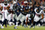 Stevan Ridley #22 of the New England Patriots runs with the ball against Danieal Manning #38 and Glover Quin #29 of the Houston Texans during the 2013 AFC Divisional Playoffs game at Gillette Stadium on January 13, 2013 in Foxboro, Massachusetts.  (Photo by Elsa/Getty Images)