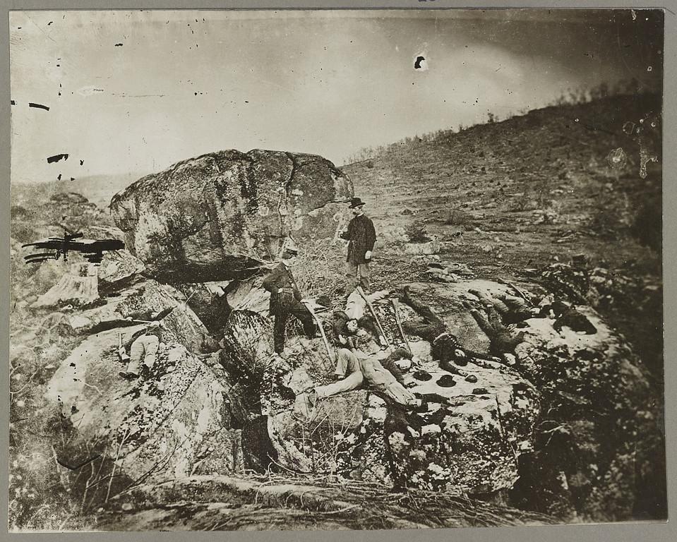 Description of . Devil's Den, Gettysburg  - Library of Congress Prints and Photographs Division Washington, D.C.