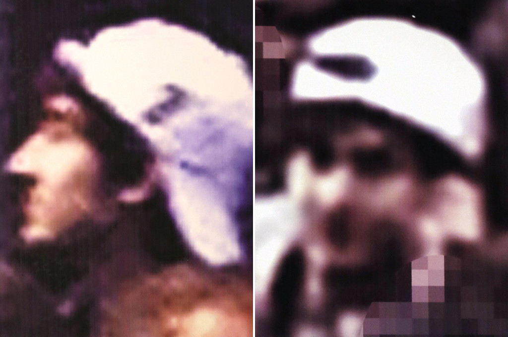 Description of . This image from video released Thursday, April 18, 2013 by the FBI shows one of two suspects sought in connection with the Boston Marathon bombings. The FBI released photos and video of the two suspects and asked for the public's help in identifying them, zeroing in on the two men on surveillance-camera footage less than three days after the deadly attack. (AP Photo/FBI)
