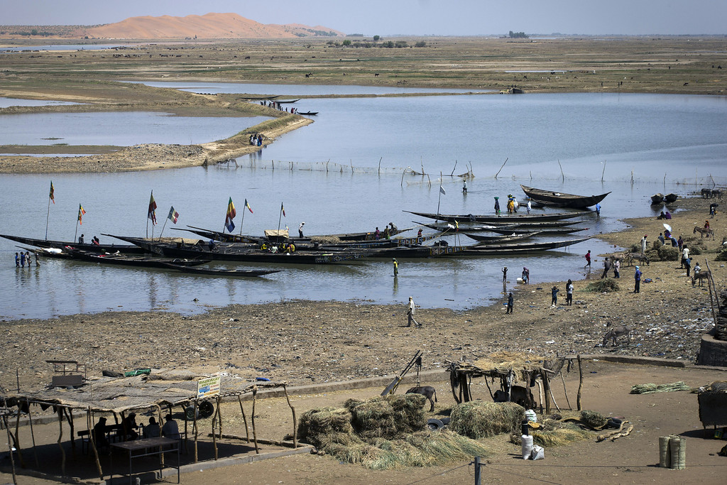 Description of . Boats are moored at Gao's port near the Niger river on April 4, 2013.  The United Nations expressed concern over reprisal attacks against ethnic Tuaregs and Arabs in Mali, where a French-led intervention recently routed Islamist rebels. JOEL SAGET/AFP/Getty Images