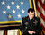 Medal of Honor recipient, retired Staff Sgt. Clinton Romesha lowers his heads as President Barack Obama speaks about the soldiers lost during an attack on Combat Outpost Keating, Monday, Feb. 11, 2013, during an event in the East Room of the White House in Washington. Romesha's leadership during a daylong attack by hundreds of fighters on Combat Outpost Keating in Afghanistan led to award. (AP Photo/Pablo Martinez Monsivais)