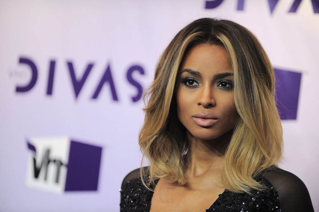 Description of . Ciara arrives at VH1 Divas on Sunday, Dec. 16, 2012, at the Shrine Auditorium in Los Angeles. (Photo by Jordan Strauss/Invision/AP)
