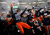 Members of the Syracuse Orange celebrate with fans after their win over the West Virginia Mountaineers in the New Era Pinstripe Bowl at Yankee Stadium on December 29, 2012 in the Bronx borough of New York City.  (Photo by Jeff Zelevansky/Getty Images)
