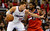 Blake Griffin of the Los Angeles Clippers controls the ball under pressure from Nene of the Washington Wizards during their NBA game in Los Angeles on January 19, 2013.  AFP PHOTO / Frederic J. BROWNFREDERIC J. BROWN/AFP/Getty Images