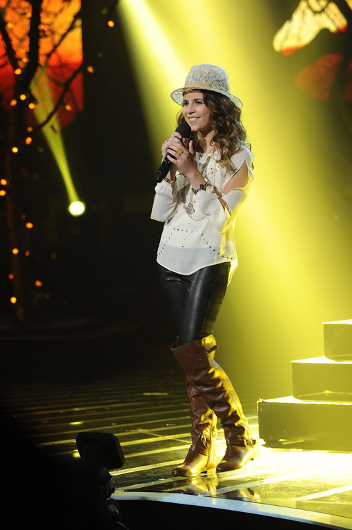 Description of . In this Wednesday, Dec. 19, 2012 publicity photo released by FOX, finalist, Carly Rose Sonenclar performs  during