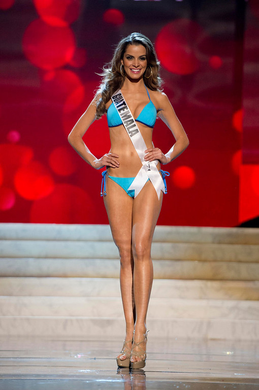 Description of . Miss Guatemala 2012 Laura Godoy Calle competes during the Swimsuit Competition of the 2012 Miss Universe Presentation Show at PH Live in Las Vegas, Nevada December 13, 2012. The Miss Universe 2012 pageant will be held on December 19 at the Planet Hollywood Resort and Casino in Las Vegas. REUTERS/Darren Decker/Miss Universe Organization L.P/Handout
