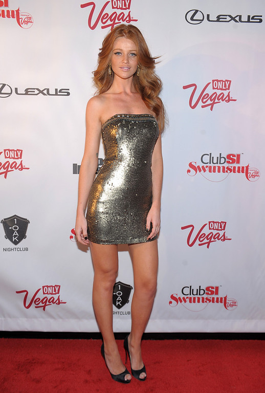 Description of . Sports Illustrated swimsuit model Cintia Dicker attends Club SI Swimsuit at 1 OAK Nightclub at The Mirage Hotel & Casino on February 14, 2013 in Las Vegas, Nevada.  (Photo by Michael Loccisano/Getty Images for Sports Illustrated)