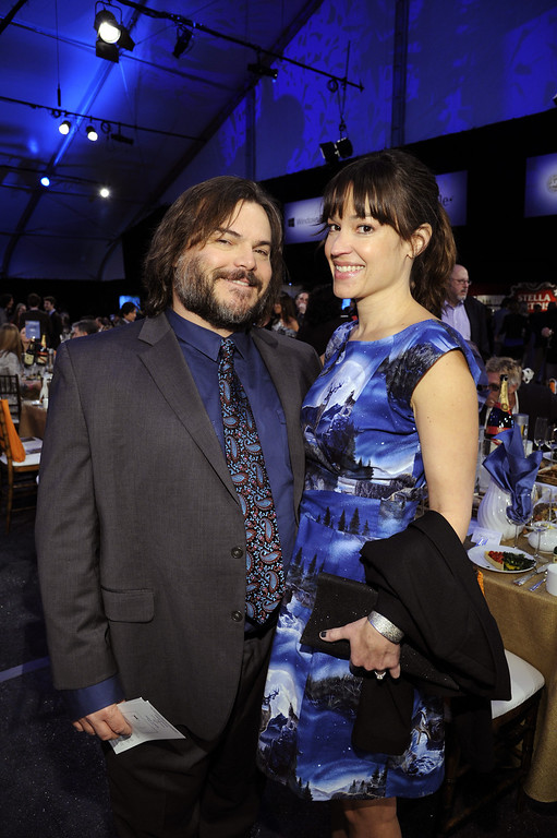 Description of . SANTA MONICA, CA - FEBRUARY 23:  Actor Jack Black and musician Tanya Haden attend the 2013 Film Independent Spirit Awards at Santa Monica Beach on February 23, 2013 in Santa Monica, California.  (Photo by Kevork Djansezian/Getty Images)