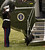 A Marine guard salutes as President Bush's dog Barney disembarks from Marine One on the South Lawn of the White House Sunday, March 14, 2004.  Barney was returning from Camp David with President Bush and first lady Laura Bush.   (AP Photo/Gerald Herbert)