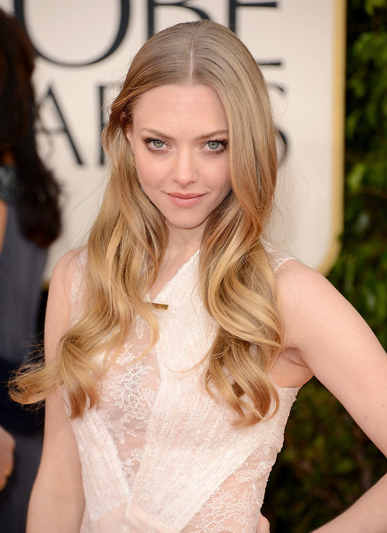 Description of . Actress Amanda Seyfried arrives at the 70th Annual Golden Globe Awards held at The Beverly Hilton Hotel on January 13, 2013 in Beverly Hills, California.  (Photo by Jason Merritt/Getty Images)