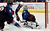 DENVER, CO. - JANUARY 24: Colorado Avalanche goalie Semyon Varlamov (1) makes a save on a shot by Columbus Blue Jackets left wing Nick Foligno (71) during the second perio january 24, 2013 at Pepsi Center. The Colorado Avalanche take on the  Columbus Blue Jackets in NHL action. 
