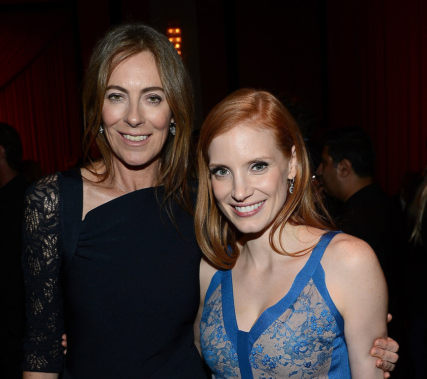 Description of . Director Kathryn Bigelow (L) and actress Jessica Chastain attend the after party for the premiere of Columbia Pictures'