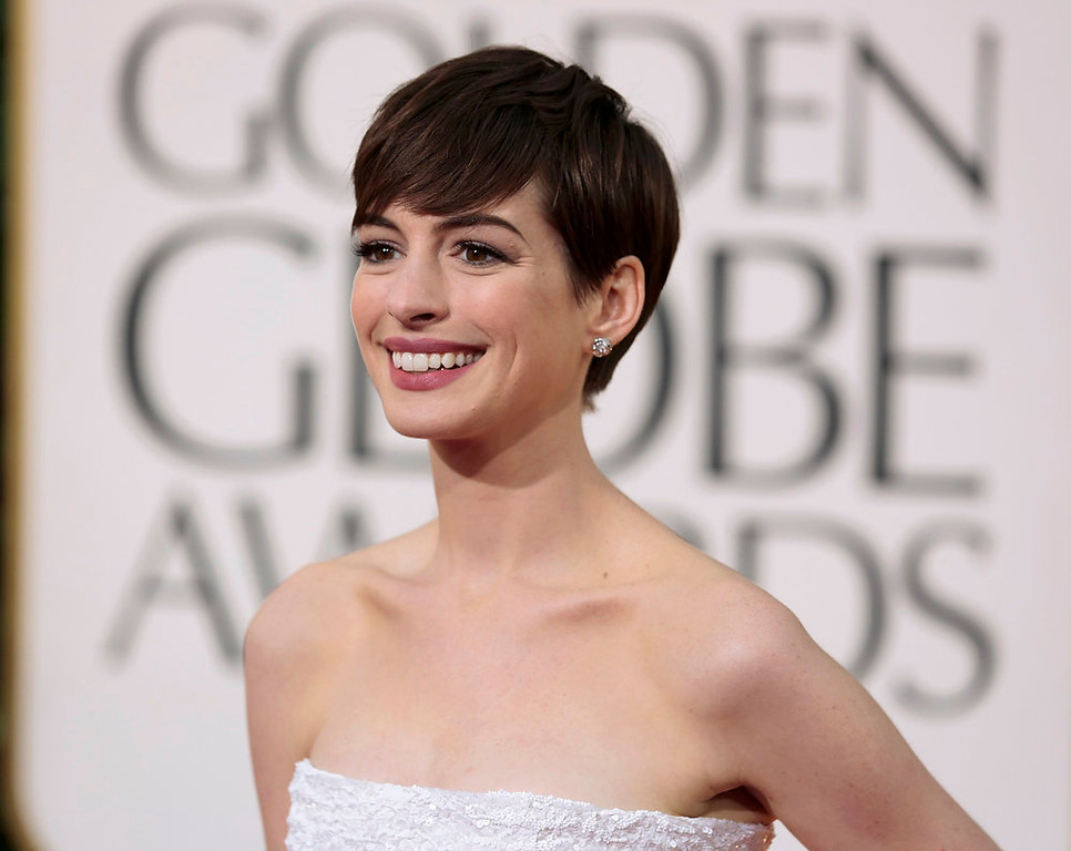 Description of . Actress Anne Hathaway of the film