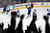 The fans celebrate as David Jones #54 of the Colorado Avalanche scores the game winning goal in overtime against goalie Jaroslav Halak #41 of the St. Louis Blues at the Pepsi Center on February 20, 2013 in Denver, Colorado. The Avalanche defeated the Blues 1-0 in overtime.  (Photo by Doug Pensinger/Getty Images)