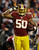 LANDOVER, MD - DECEMBER 30:   Rob Jackson #50 of the Washington Redskins celebrates his fourth quarter interception against the Dallas Cowboys at FedExField on December 30, 2012 in Landover, Maryland.  (Photo by Rob Carr/Getty Images)