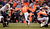 Denver Broncos running back Ronnie Hillman (21) finds an opening during the first half.  The Denver Broncos vs Baltimore Ravens AFC Divisional playoff game at Sports Authority Field Saturday January 12, 2013. (Photo by John Leyba,/The Denver Post)