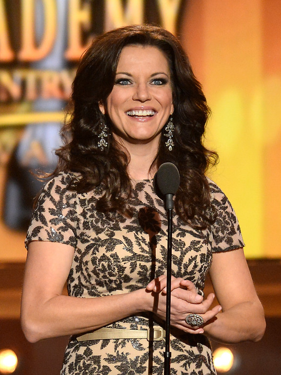 Description of . Singer Martina McBride speaks onstage during the 49th Annual Academy Of Country Music Awards at the MGM Grand Garden Arena on April 6, 2014 in Las Vegas, Nevada.  (Photo by Ethan Miller/Getty Images)