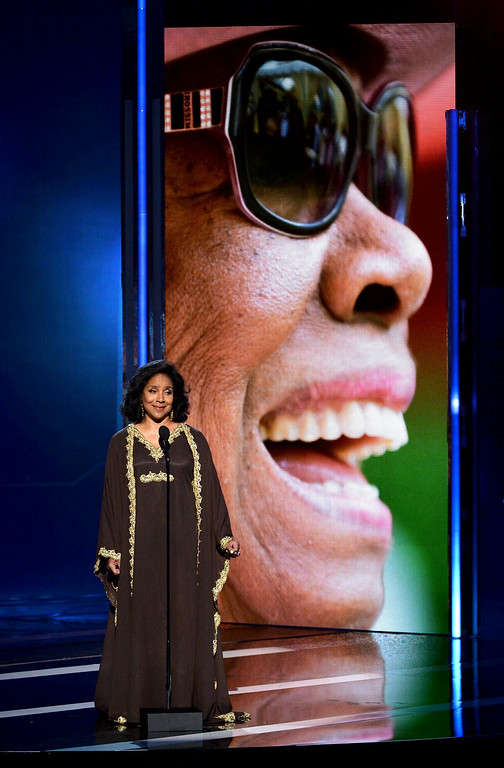 Description of . Actress Phylicia Rashad speaks onstage during the BET AWARDS '14 at Nokia Theatre L.A. LIVE on June 29, 2014 in Los Angeles, California.  (Photo by Kevin Winter/Getty Images for BET)
