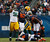 Green Bay Packers' Jordan Miller (96) celebrates his sack on Chicago Bears' Jay Cutler (6) during the second half of their NFL football game at Soldier Field in Chicago, December 16, 2012.     REUTERS/Jim Young