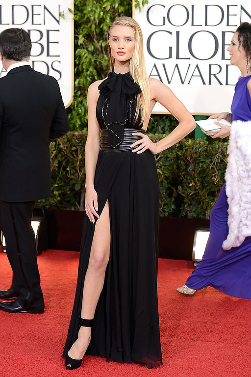 Description of . Actress Rosie Huntington-Whiteley arrives at the 70th Annual Golden Globe Awards held at The Beverly Hilton Hotel on January 13, 2013 in Beverly Hills, California.  (Photo by Jason Merritt/Getty Images)
