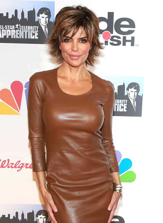 "Description of . Lisa Rinna attends ""All Star Celebrity Apprentice\"" Finale at Cipriani 42nd Street on May 19, 2013 in New York City.  (Photo by Robin Marchant/Getty Images)"