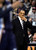 Memphis Grizzlies coach Lionel Hollins rubs his chin between plays in the first quarter of a NBA game in Denver on Friday, Dec. 14, 2012.(AP Photo/Joe Mahoney)