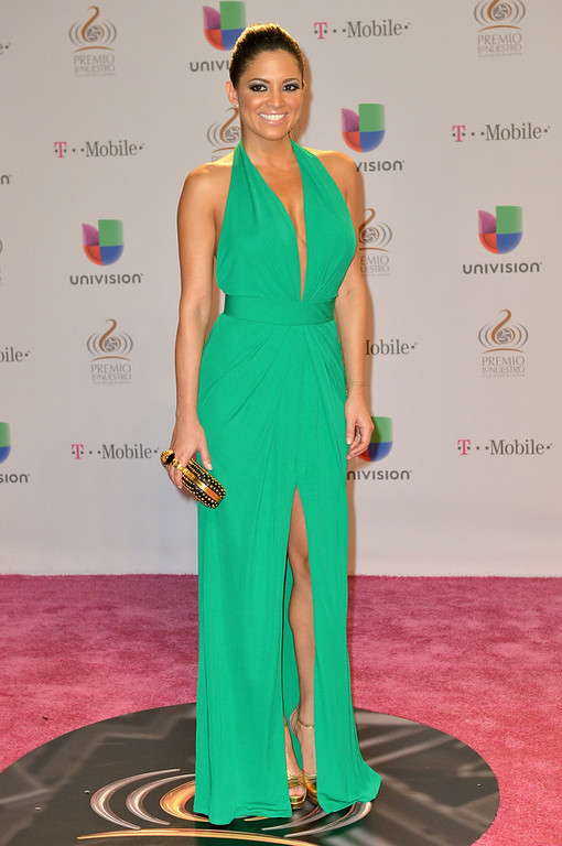 Description of . Pamela Silva Conde arrives at the 25th Anniversary Of Univision's