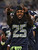 Cornerback Richard Sherman #25 of the Seattle Seahawks celebrates on the bench near the end of the game against the Arizona Cardinals at CenturyLink Field on December 9, 2012 in Seattle, Washington. The Seahawks defeated the Cardinals 58-0.  (Photo by Otto Greule Jr/Getty Images)