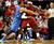 MIAMI, FL - DECEMBER 25: Guard Thabo Sefolosha #2 of the Oklahoma City Thunder defends against Forward LeBron James #6 of the Miami Heat at AmericanAirlines Arena on December 25, 2012 in Miami, Florida.  (Photo by Marc Serota/Getty Images)
