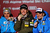 Race winner Ted Ligety (C) of the United States of America celebrates with second placed Marcel Hirscher (L) of Austria and third placed Manfred Moelgg (R) of Italy at the medal ceremony following the Men's Giant Slalom during the Alpine FIS Ski World Championships on February 15, 2013 in Schladming, Austria.  (Photo by Clive Mason/Getty Images)