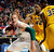 Colorado State University's Colton Iverson (L) battles for the rebound with Missouri University's Earnest Ross (R) during the first half in their second round NCAA basketball game at Rupp Arena in Lexington, Kentucky March 21, 2013.    REUTERS/ John Sommers II