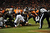 Baltimore Ravens running back Ray Rice (27) is stopped at the one yard line. The Denver Broncos vs Baltimore Ravens AFC Divisional playoff game at Sports Authority Field Saturday January 12, 2013. (Photo by Joe Amon,/The Denver Post)