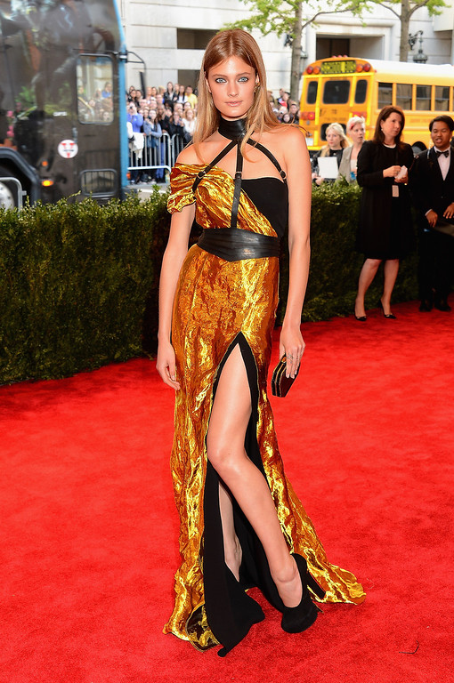 Description of . Model Constance Jablonski attends the Costume Institute Gala for the