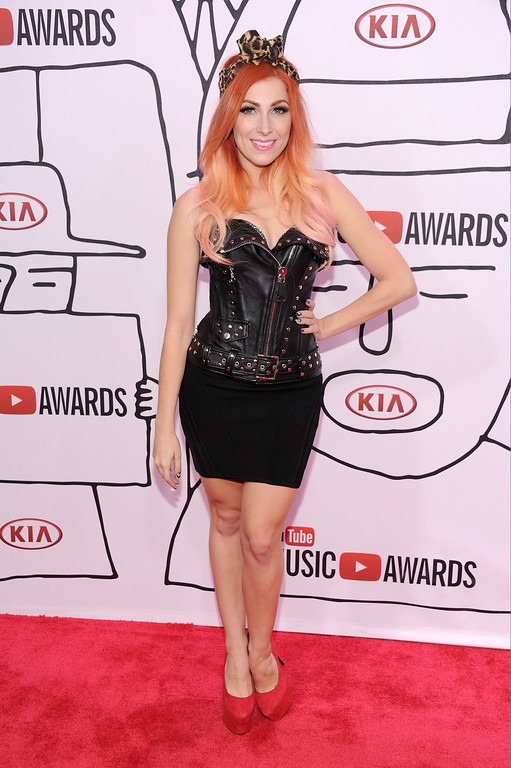 Description of . Singer Bonnie McKee attends the YouTube Music Awards 2013 on November 3, 2013 in New York City.  (Photo by Dimitrios Kambouris/Getty Images)