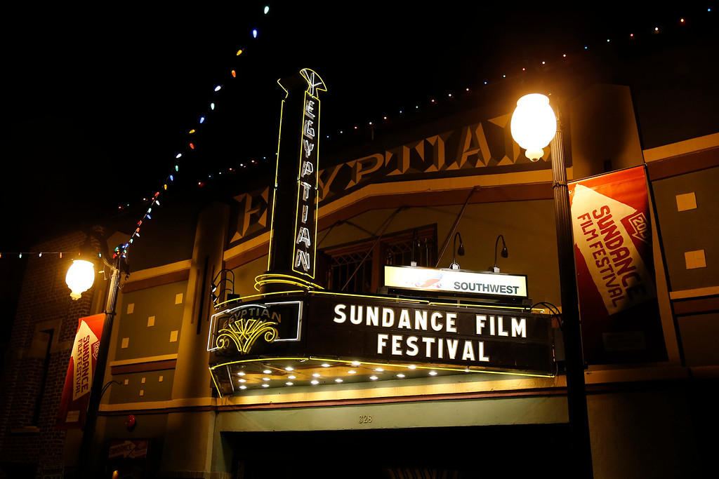 Description of . The marquee at the Egyptian Theatre on Main Street is seen at night during the 2013 Sundance Film Festival on Thursday, Jan. 17, 2013 in Park City, Utah. (Photo by Danny Moloshok/Invision/AP)