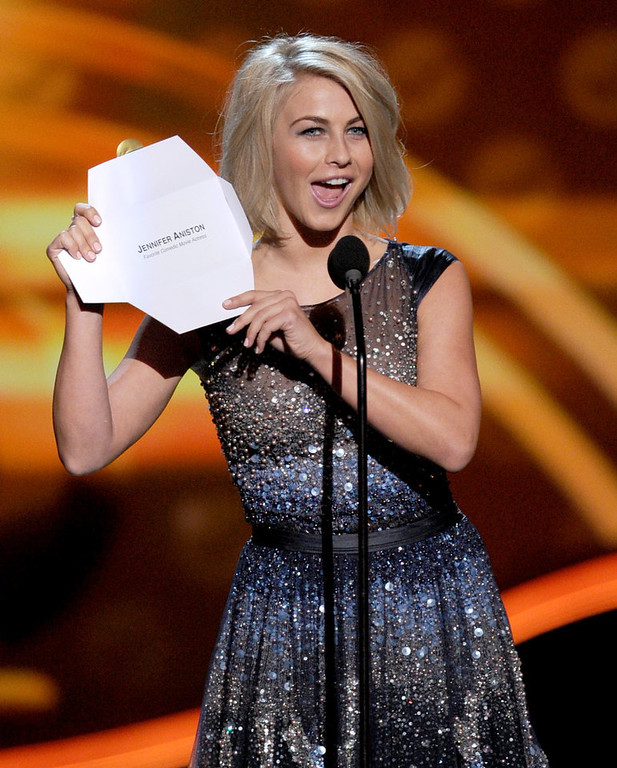 Description of . Actress Julianne Hough speaks onstage at the 39th Annual People's Choice Awards  at Nokia Theatre L.A. Live on January 9, 2013 in Los Angeles, California.  (Photo by Kevin Winter/Getty Images for PCA)