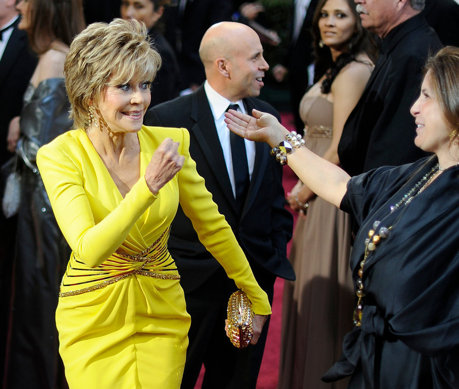 Description of . Jane Fonda arrives at the 85th Academy Awards at the Dolby Theatre in Los Angeles, California on Sunday Feb. 24, 2013 (Hans Gutknecht, staff photographer)
