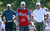 Tiger Woods of the USA and Rory McIlroy of Northern Ireland on the 14th green during the second round of the Abu Dhabi HSBC Golf Championship at the Abu Dhabi Golf Club on January 18, 2013 in Abu Dhabi, United Arab Emirates.  (Photo by Ross Kinnaird/Getty Images)